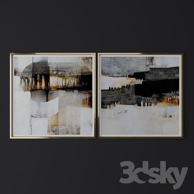 Set of contemporary art 24