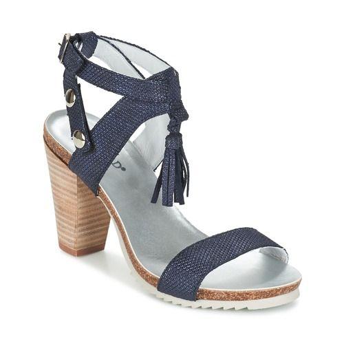 Regard RIKIL Bleu - Chaussure pas cher avec Shoes.fr ! - Chaussures Sandale  Femme