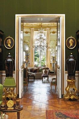 Hubert de Givenchy's Paris apartment, WSJ, photo via Christie's