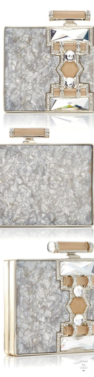 Judith Leiber Couture Jazz Age Ridged Rectangle Clutch