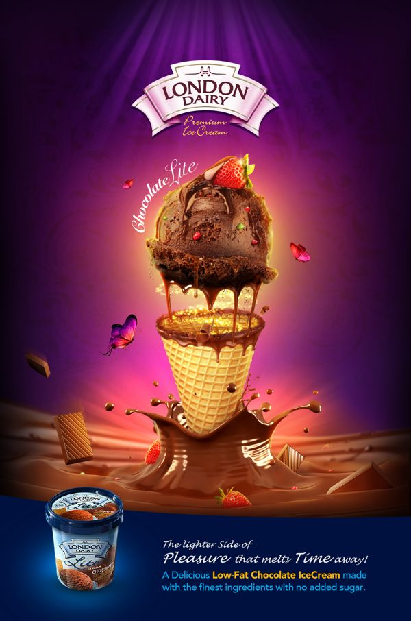 London dairy DIET - Promotional campaign by Icon Advertising Design FZ LLC, via Behance