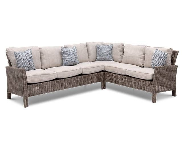 Santa Barbara 2 Pc Sectional With Images Luxury Patio Furniture Outdoor Furniture Sofa Outdoor Wicker Furniture Cushions