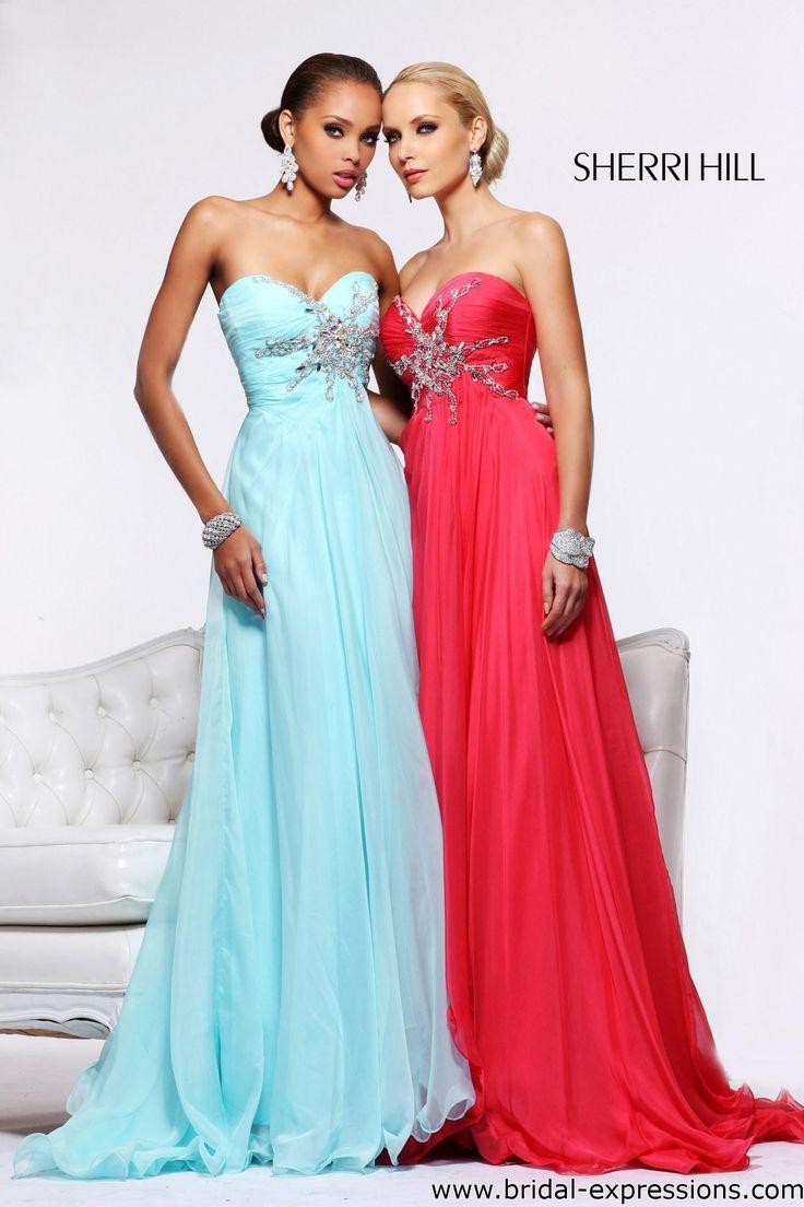 Sherri Hill 3873 Beaded Chiffon Prom Dress 💟$485.99 from http://www.www.eudances.com   #prom #beaded #chiffon #sherri #wedding #mywedding #bridal #dress #weddingdress #bridalgown #hill