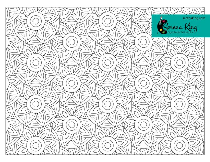 Circle Floral Pattern Coloring Page