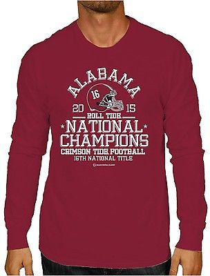 Alabama Crimson Tide 2016 College Football Playoff Champs Red LS T-Shirt