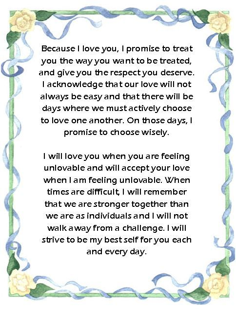 16 best images about Wedding Vows on Pinterest