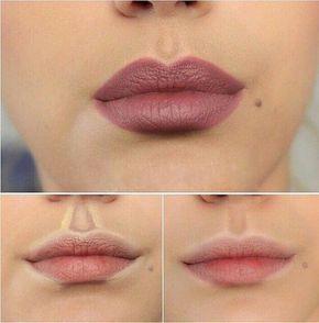 Cómo resaltar el contorno de tus labios. SI usted tiene tiempo para esto parece que se puede hacer una diferencia. Pero seamos sinceros, sólo pudimos hacer todas estas pequeños trucos y consejos si tuviéramos todo el equipo de maquillaje Kardashian trabajando en nosotros.