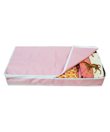Take a look at this Pink Under-Crib Storage Bin by Neat & Tidy: Storage Solutions on #zulily today!