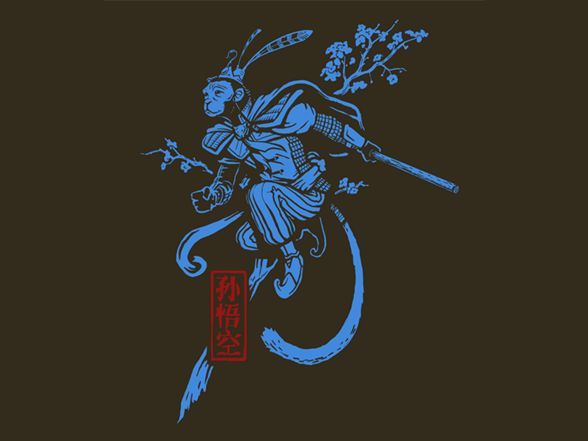 Sun Wukong (The Monkey King) Tee by Shirt.Woot.com