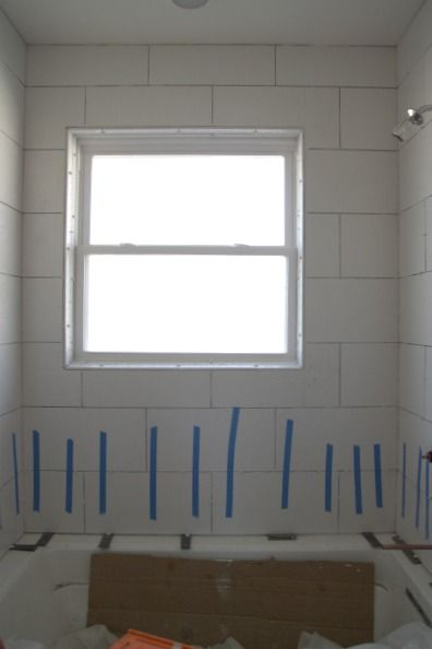 17 best images about rental bathroom on pinterest wall for Master bathroom window ideas