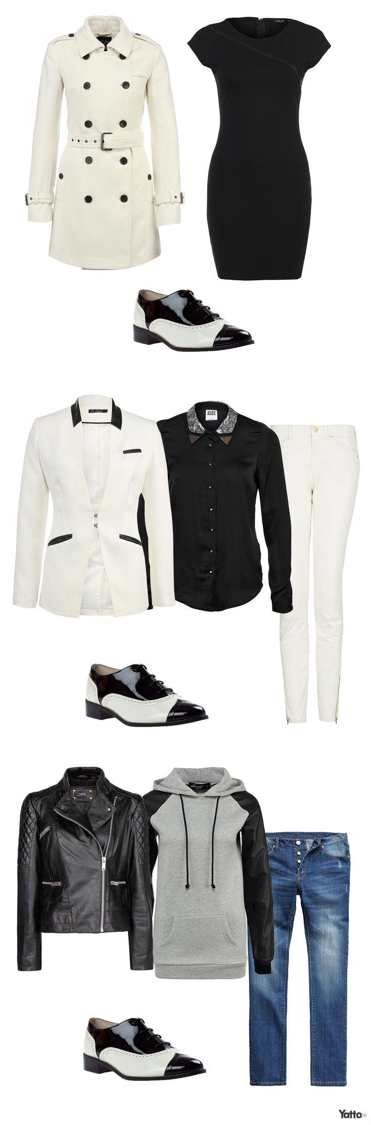 ЧЕРНО-БЕЛЫЕ БОТИНКИ Черно-белая палитра актуальна как никогда, что сказать, классика есть классика. В такие краски окрашены и одежда, и обувь. Если вы не решаетесь облачиться полностью в черно-белую гамму, начните с обуви такого цвета, тем более белый и черный – универсальные цвета, которые сочетаются со всеми другими, поэтому проблем с подбором вещей у вас возникнуть не должно.