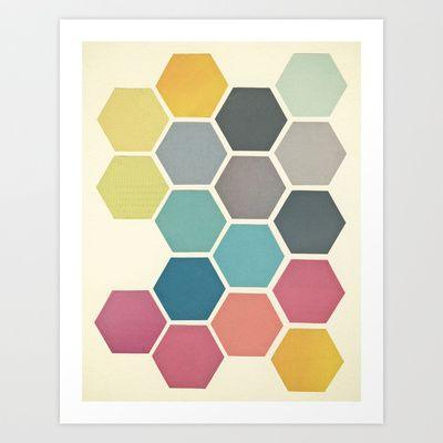 Honeycomb II Art Print by Cassia Beck - $20.80