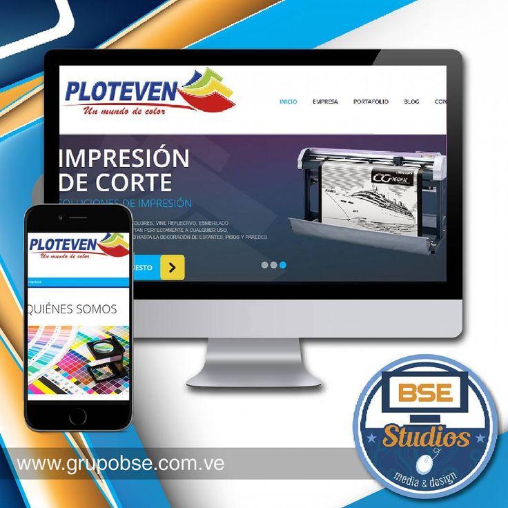 Proyecto Web.  Cliente: Ploteven C.A. www.ploteven.com.ve - Portal web administrable. - Diseño responsive adaptable a cualquier dispositivo.  Escríbenos para solicitar información por grupobse@gmail.com o visita nuestra web www.grupobse.com.ve  #clientes #proyectosweb  #designresponsive #responsive #grupobse #bsestudios #sistema #wordpress #html5 #css3 #javascript #php #webdeveloper #desarrolloweb #diseñoweb #solucionesweb