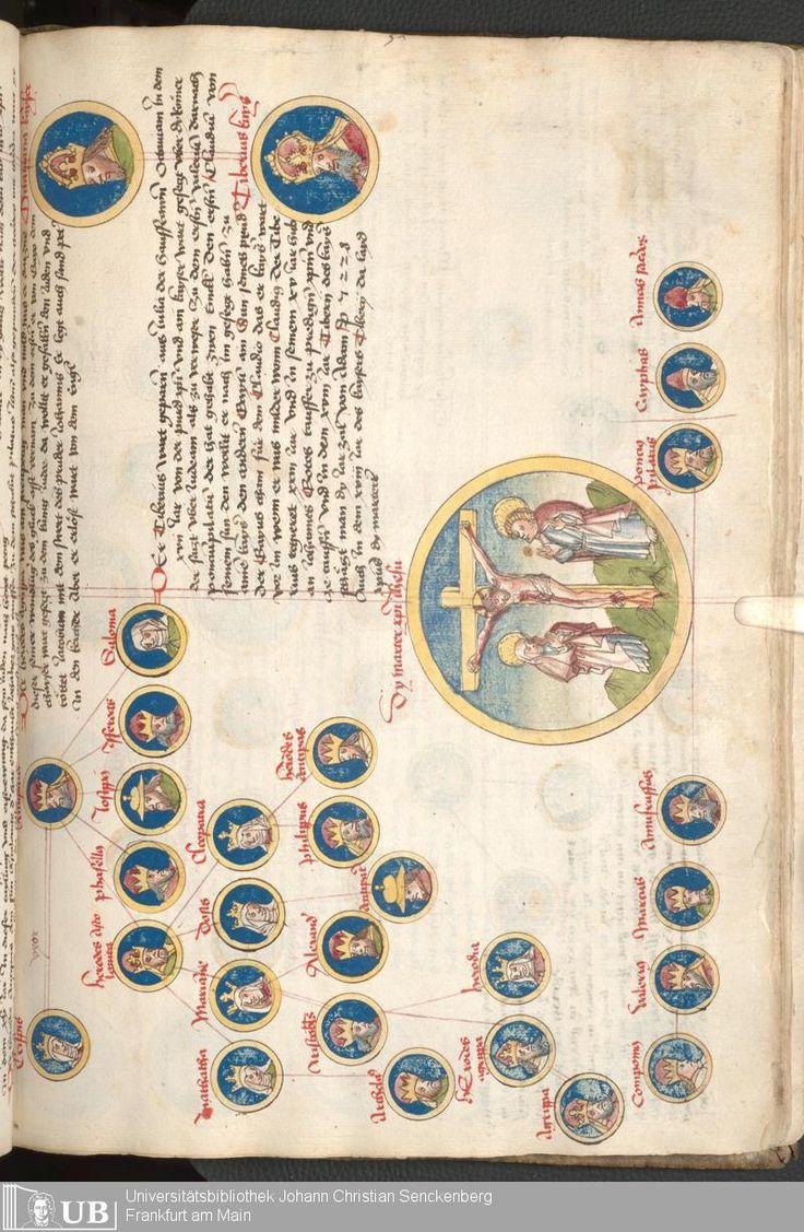"""Weltchronik"" Bavaria Circa 1460. Page 65. Via: University Goethe Library http://sammlungen.ub.uni-frankfurt.de/msma/content/titleinfo/1970987"
