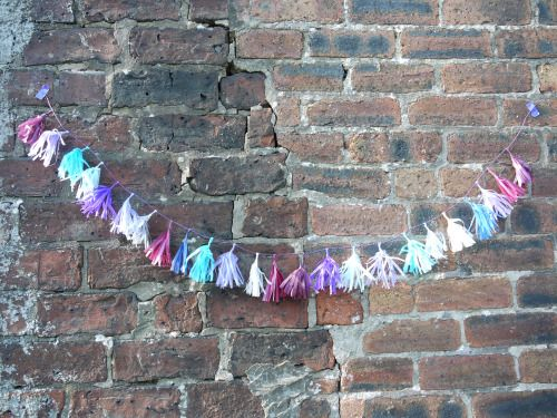 ~ baby shower ~ kid's room~ party decor ~ Custom tassel garland Luxury handmade paper decor by Paper Street Dolls  Check out our store - paperstreetdolls.etsy.com
