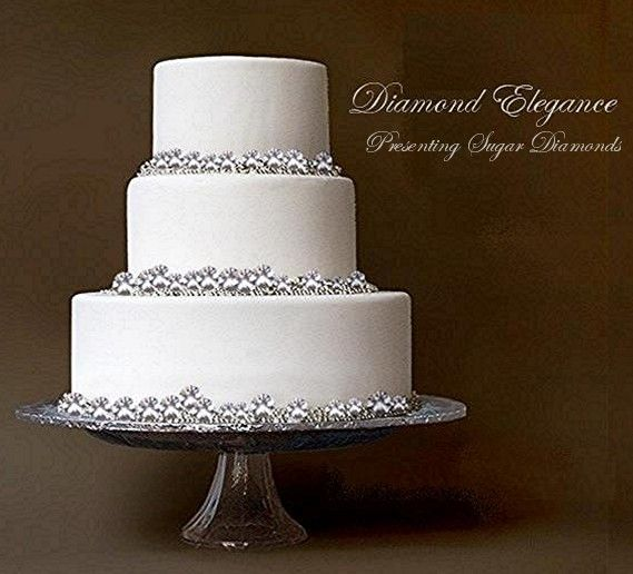 How To Decorate A Diamond Wedding Cake