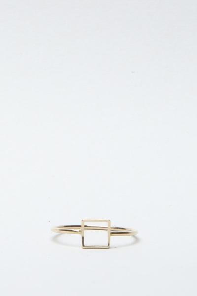 Totokaelo - Mociun - Square Ring - Gold