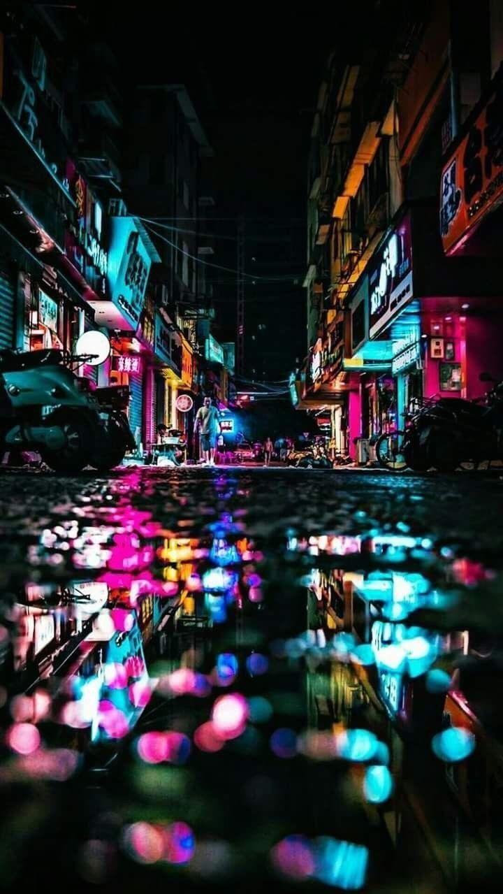 Cyberpunk City Wallpaper Art Wallpaper Street Photography