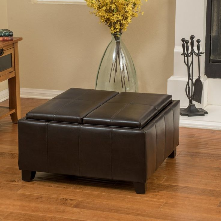 Square Coffee Table By Latitude Run: Best 25+ Leather Ottoman Ideas On Pinterest