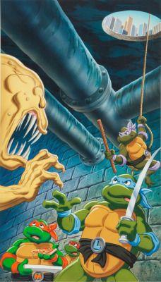 Teenage Mutant Ninja Turtles VHS Artwork, by Greg Martin