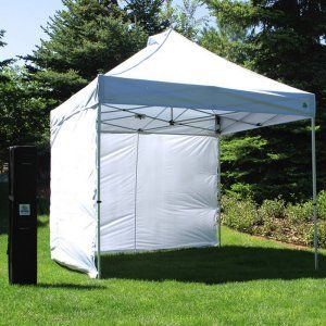 UnderCover 10 x 10 Super Lightweight Aluminum Instant Canopy with Sidewall Enclosure Image 1