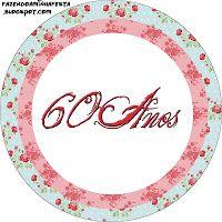 Imprimibles para celebrar 60 años, mujer 2.