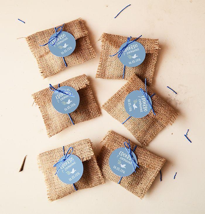 sacchettini in juta fatti a mano per comunione