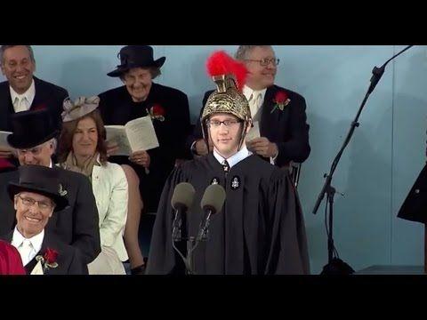 Latin Speaker Timothy Barry-Heffernan   Harvard Commencement 2014 - YouTube