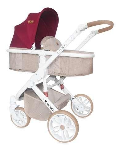 Lorelli Luna 2 1 újszülött Babakocsi  bézs-piros  fa771df562