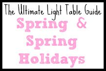 Light Table Spring and Spring Holidays