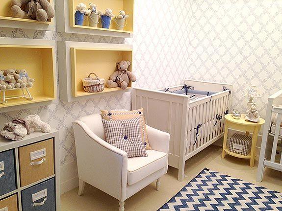 decoracao de quarto de bebe azul e amarelo:Quartos, Bebê and Google on Pinterest