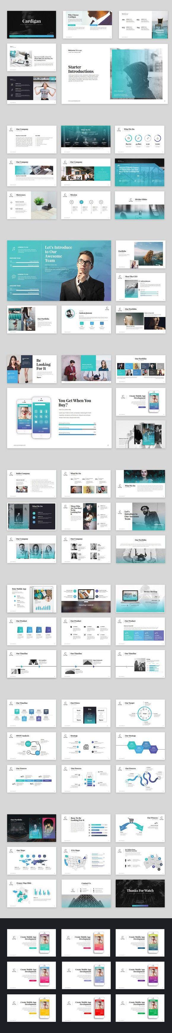 Cardigan Powerpoint Template. Presentation Templates. $12.00