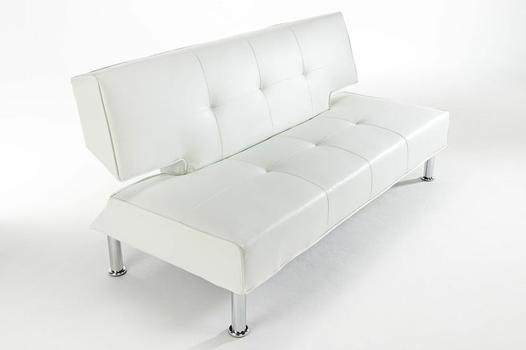 New 3 Seater Faux Leather Sofa Bed Futon