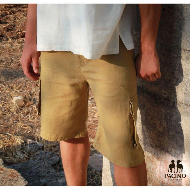 Bermuda Uomo PACINO ® color Verde Oliva 100% #Canapa Biologica COD. PPT744 La tessitura leggera di questo capo garantisce il massimo della traspirabilità e della freschezza. #pacino #abbigliamento #hemp #clothing #bottegadellacanapa
