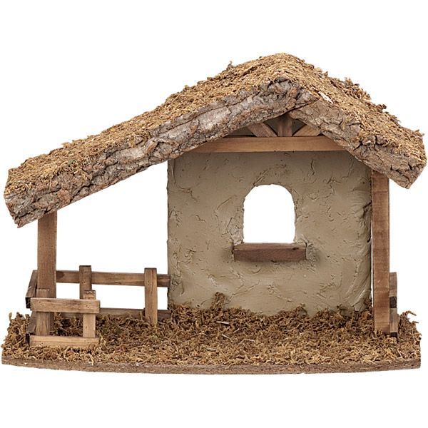 Fontanini Nativities - Wood Stable-Available at Leaflet Missal