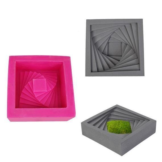 Silikonform DIY Sukkulenten Zement Blumentopf Formen
