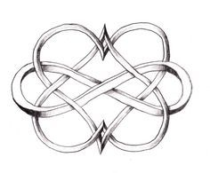 Nordic knot infinity heart