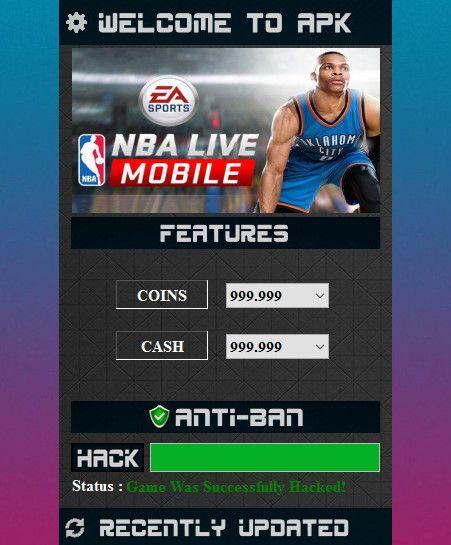 nba live mobile unlimited cash apk