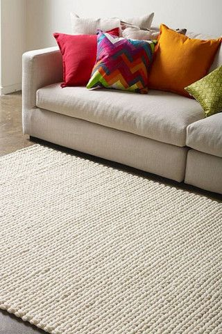 Rope Weave Handwoven Rug, in Multiple Sizes & Colours - Complete Pad ®