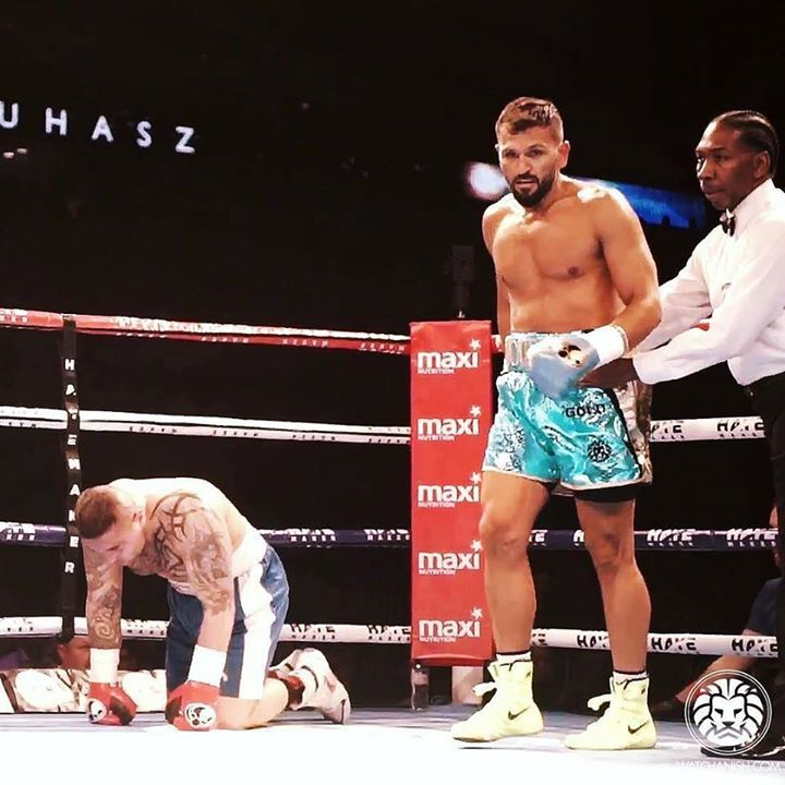 Exceptionally proud to have sponsored my brother @joefournierclub and see him remain undefeated this past weekend on the undercard of the David Haye fight. @dino5thstgym you did an amazing job turning him into what he is now (though he remains as dumb as a doorstop !) -watchanish