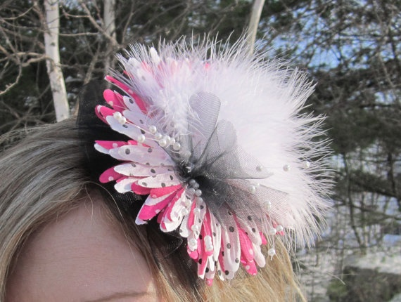 bloomer Floral Fascinator Headband in Black by SHOWYOURbloomers, $35.00