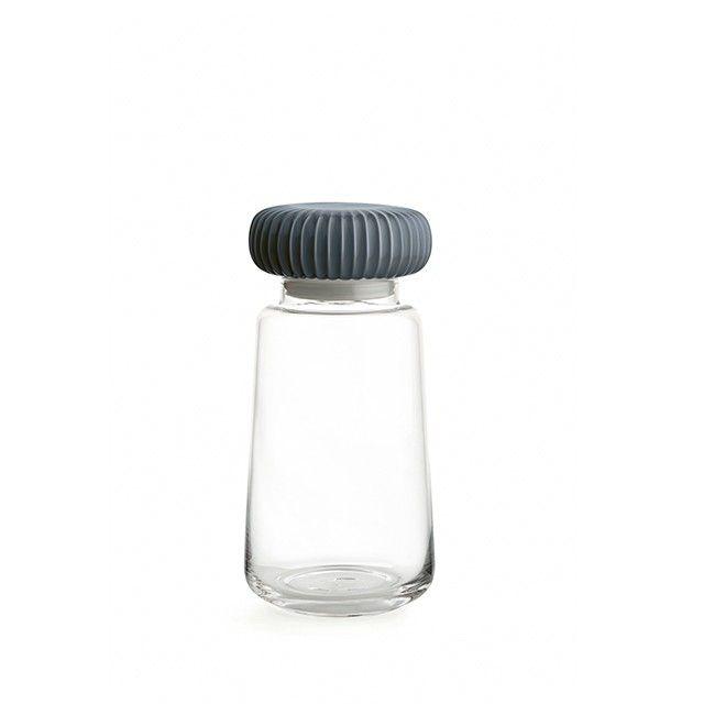 Voorraadpot in glas met mooi keramiek deksel