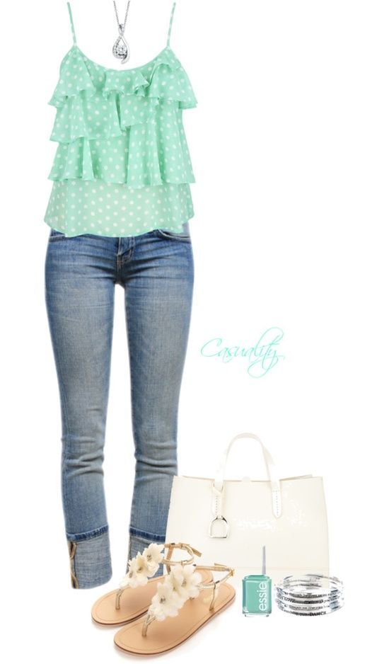 Fashion Worship | Turquoise and cream spring / summer outfit.