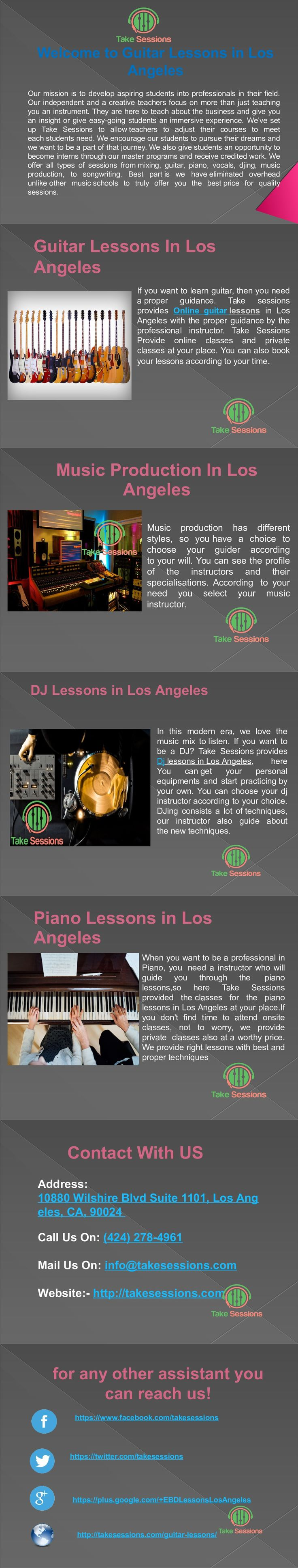 26 best guitar lessons los angeles take sessions images on
