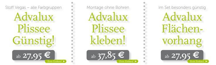 Plissee günstig bei Advalux Sonnenschutz, Lichtschutz, Sichtschutz Onlineshop ... http://advalux.de