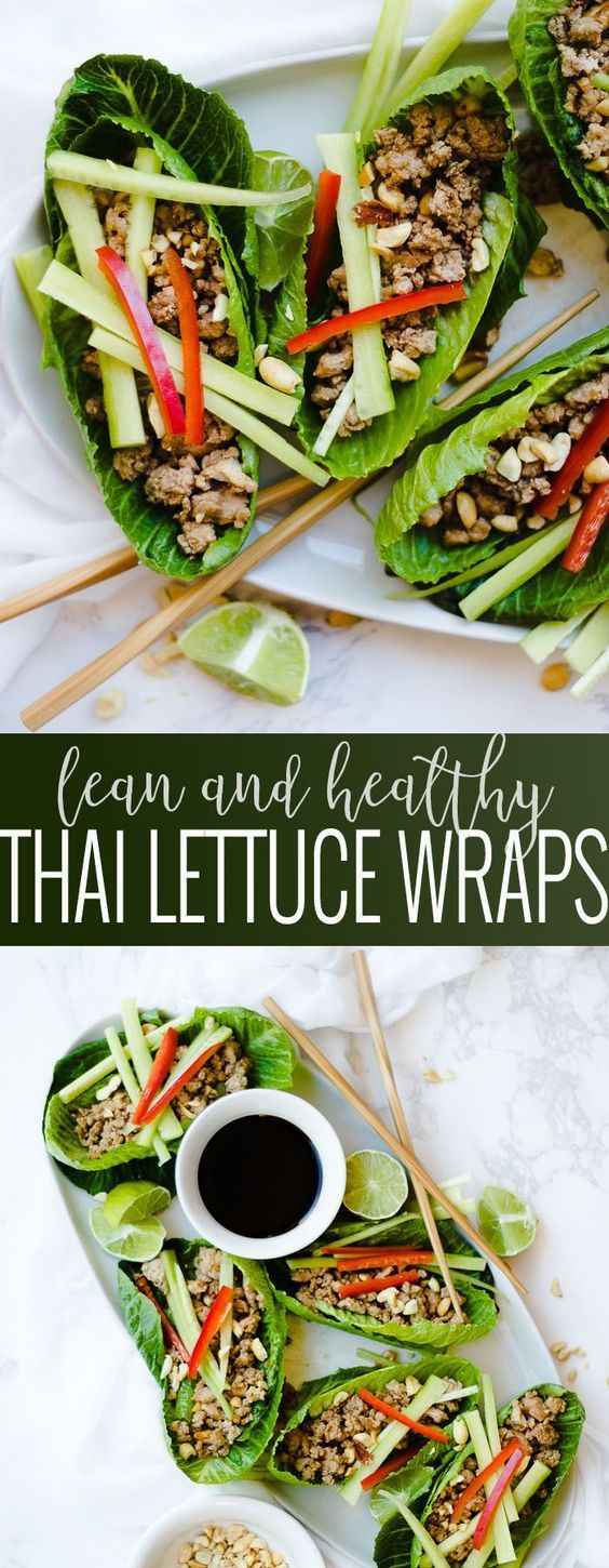 Thai Lettuce Wraps | healthy lettuce wrap recipes | easy lettuce wraps | healthy lunch recipes | recipes using ground turkey | ground turkey recipe ideas || Oh So Delicioso #lettucewrap #healthylunch #healthyrecipe