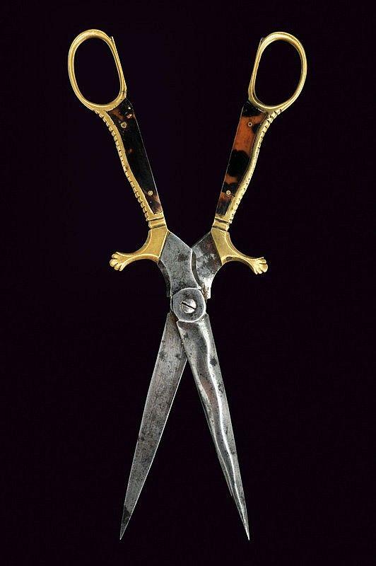 A rare scissors-dagger, Italy, 19th century.