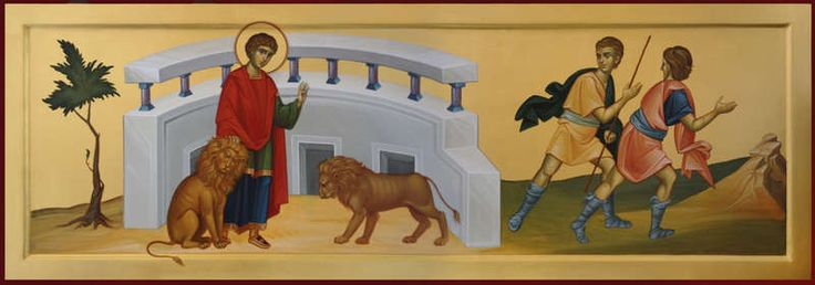 St. Panteleimon with the lions.