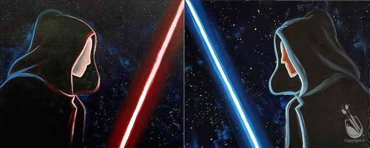 DATE/ BFF NIGHT! May the 4th be with you. Come paint your STAR WARS painting set with us Wednesday, May 4 @ 7pm.