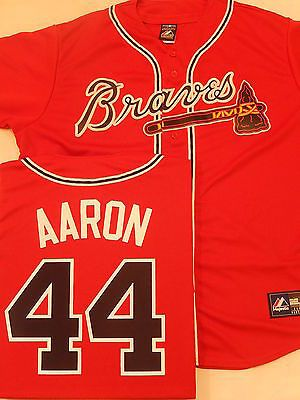 on sale bb985 f6d3d braves 44 hank aaron white pink fashion womens stitched ...